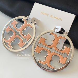 Tory Burch hoop earrings Miller hoop earrings